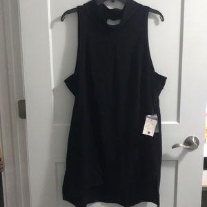 NWT Free People Black Goldie Tunic Dress SZ L